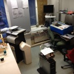 Tulostinhuone siivouksen alla