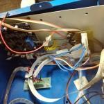 Lähikuva protosovitteesta laserkaivertimen sisällä
