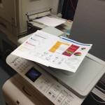 Tavallinen tulostin ja esimerkkituloste
