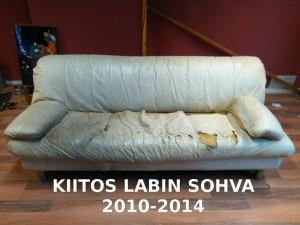 Nilsiänkadun vanha sohva sai lähteä (kuva viHannes)