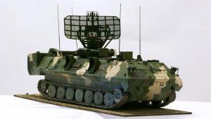 panssariajoneuvon pienoismalli